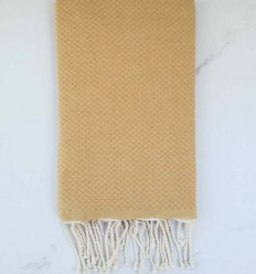 Plain honeycomb yellow ochre fouta