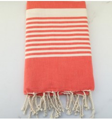 arthur Coral red beach towel