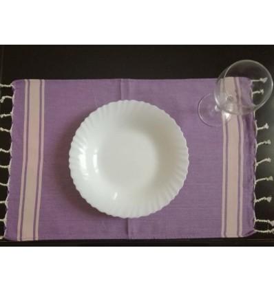 mini violet striped light pink fouta