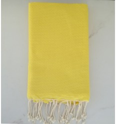plain honeycomb Yellow beach towel