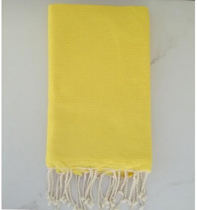 plain honeycomb Yellow beach towel
