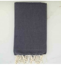 Plain honeycomb slate blue fouta