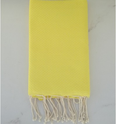 Plain honeycomb lime yellow fouta