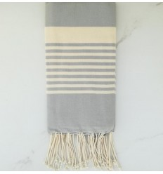 Arthur pale blue striped white fouta