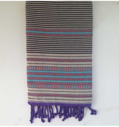 arabesque ecru beach towel