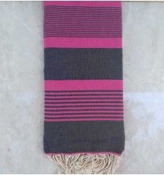Fushia pink throw
