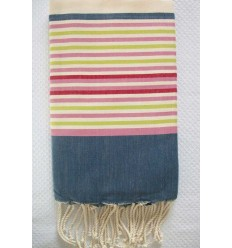Flat ziwane 5 blue jeans colors fouta