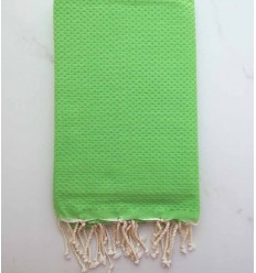 Plain honeycomb green fouta
