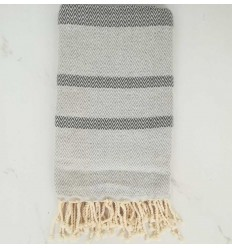 chevron light gray and gray fouta