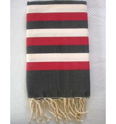 Ziwane multicolored grey red fouta