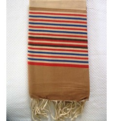 Ziwane 5 colors brown red fouta