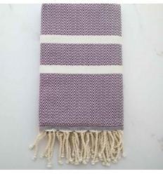 chevron African violet fouta