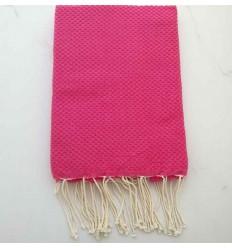 Plain honeycomb fushia pink fouta