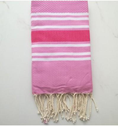 honeycomb Amaranth pink beach towel