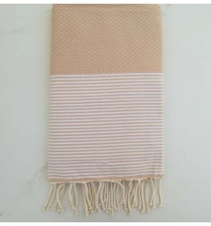 honeycomb Burlywood beach towel