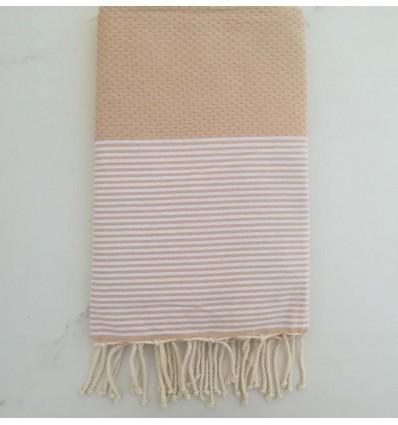 honeycomb Burlywood beach towel