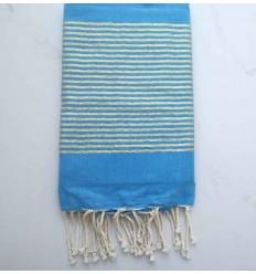 Beach Towel FLAT Lurex Blue