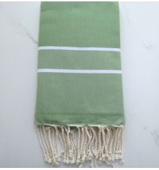 chevron moss green fouta