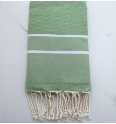 chevron moss green fouta