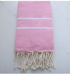 chevron light pink fouta