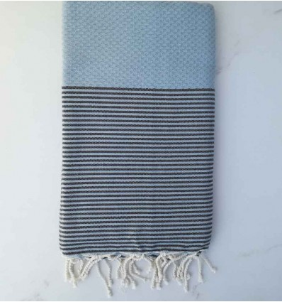 honeycomb Livid striped anthracite beach towel