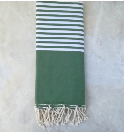 Dark green throw