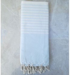 blue draped throw
