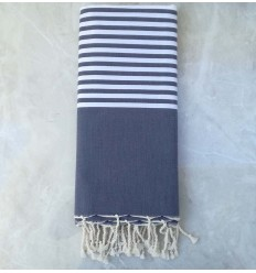 blue Grey throw