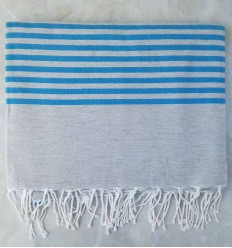 blue with stripes throw