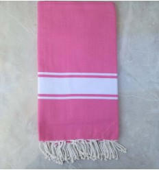 Deep pink throw