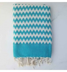 zigzag Blue Bolt beach towel