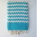 zigzag Blue Bolt beach towel