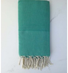 Plain honeycomb malachite green fouta