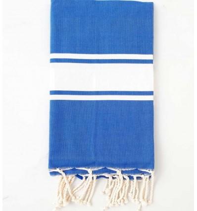 flat medium blue beach towel