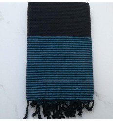 honeycomb black and azure lurex fouta