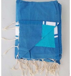 Terry azure blue fouta