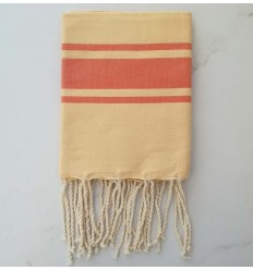 flat yellow light orange striped kid fouta