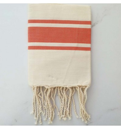 flat white cream striped orange kid fouta