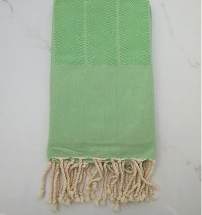 chevron green fouta