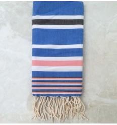 Dina blue striped grey fouta