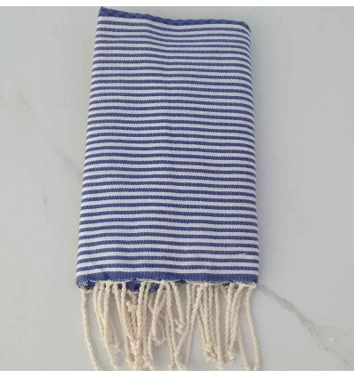 Honeycomb blue striped white child fouta