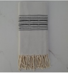 Beach Towel thalasso with anthracite patterns