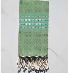 Beach Towel thalasso medium green with motives
