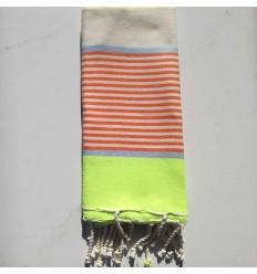 Neon, blue, orange and off-white children's beach towel