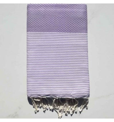 HONEYCOMB wisteria striped white fouta