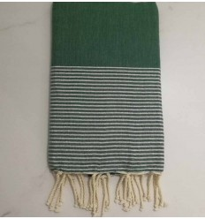 Flat green lurex fouta