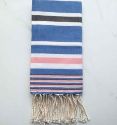 Dina blue striped grey fouta