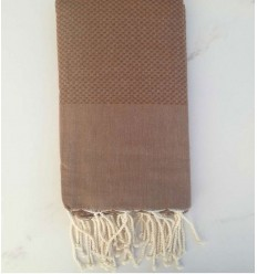 Plain honeycomb chestnut brown fouta