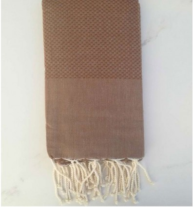 Plain honeycomb chestnut brown fouta