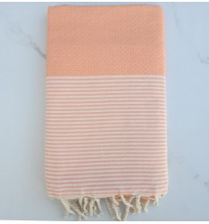 Beach Towel Honeycomb light pastel orange